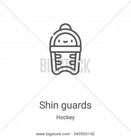 shin guards icon isolated on white background from hockey collection. shin guards icon trendy and mo