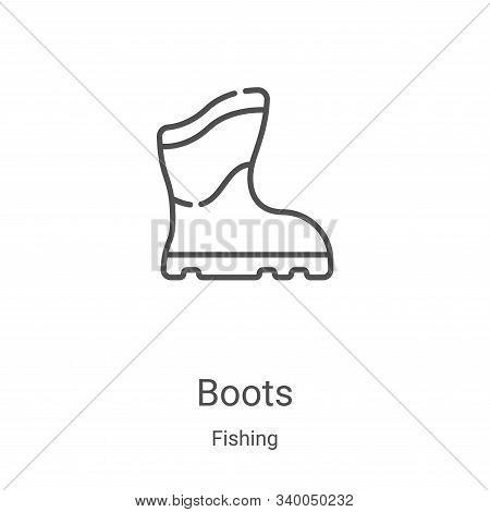 boots icon isolated on white background from fishing collection. boots icon trendy and modern boots