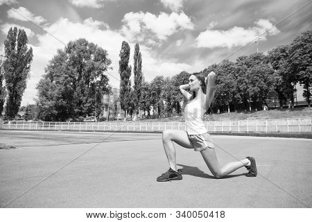 Girl Stretching Workout. Stretching Muscles. Yoga Coach. Pilates Fitness And Weight Loss. Stretching