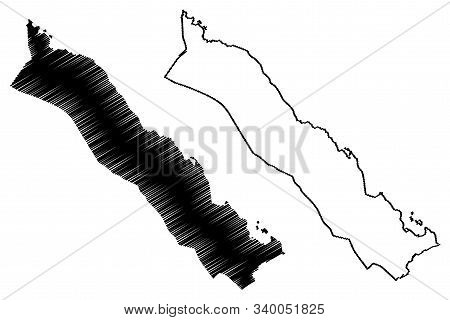 Southern Red Sea Region (horn Of Africa, State Of Eritrea, Regions Of Eritrea) Map Vector Illustrati