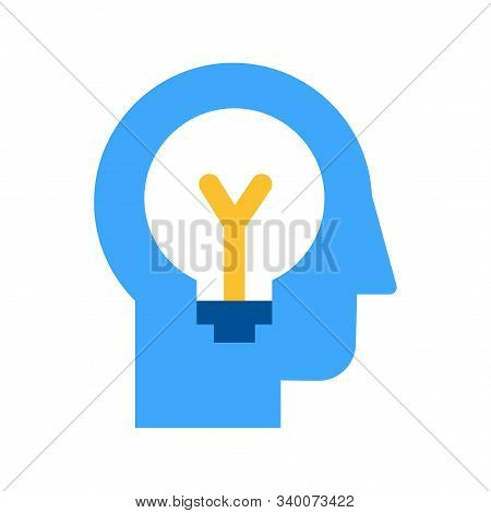 Idea Generation And Brainstorming Flat Vector Icon
