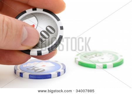 Gaming Chips In Hand