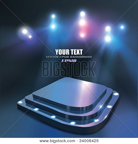 Vector Abstract Stage with Spotlight