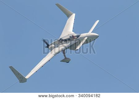 Torre Del Mar, Malaga, Spain-jul 14: Aircraft Of The Patrouille Reva Taking Part In A Exhibition On