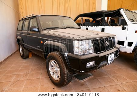 Merzouga, Morocco - September 25, 2019: Chinese Off-road Car Beijing Auto Works Knight S12 In The Mo