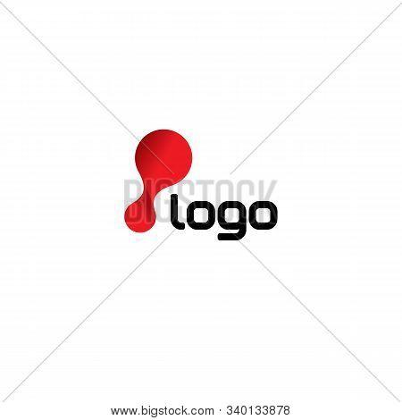 Laboratory Logo Template. Chemistry Logo Template. Biology Logo Template. Vector Logo Template. Red