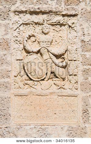 De Monti Castle of Corigliano d'Otranto. Puglia. Italy.