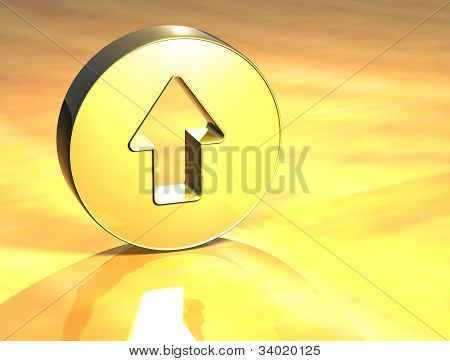 3D Arrow Gold Sign