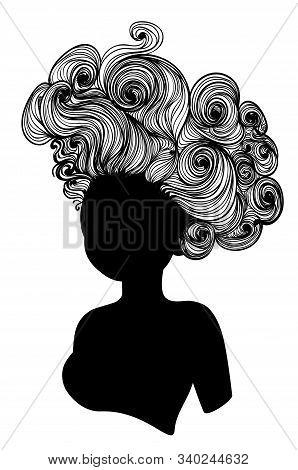 Curly Medieval Hairstyle Rococo Baroque Wig Design.