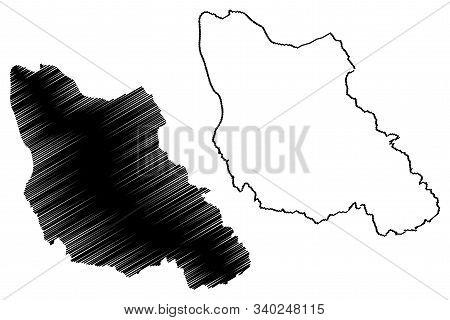Central Bosnia Canton (bih, Federation Of Bosnia And Herzegovina, Fbih) Map Vector Illustration, Scr