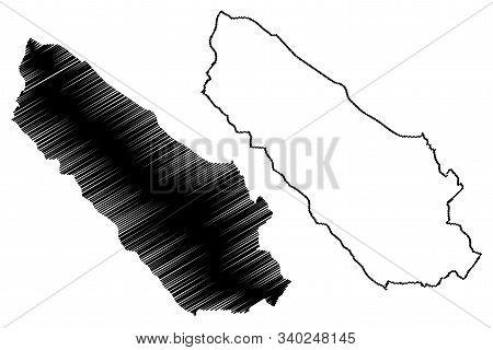 Canton 10 (bih, Federation Of Bosnia And Herzegovina, Fbih) Map Vector Illustration, Scribble Sketch