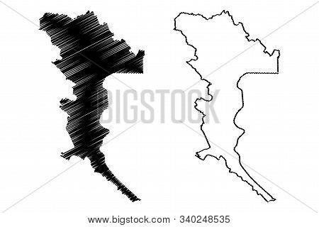 Herzegovina-neretva Canton (bih, Federation Of Bosnia And Herzegovina, Fbih) Map Vector Illustration