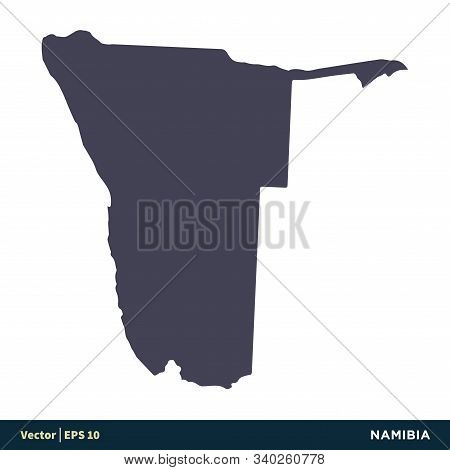 Namibia - Africa Countries Map Icon Vector Logo Template Illustration Design. Vector Eps 10.