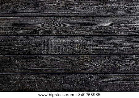 Dark Wood Background From Old Planks. Close Up