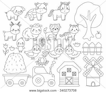 Vector Coloring Page About Chicken Ducks Stock Vector (Royalty ... | 395x450