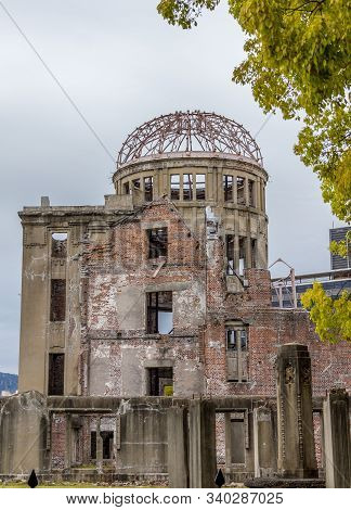 Hiroshima Peace Memorial, Japan. The Building Is Also Know As Genbaku Dome, Atomic Bomb Dome Or A-bo