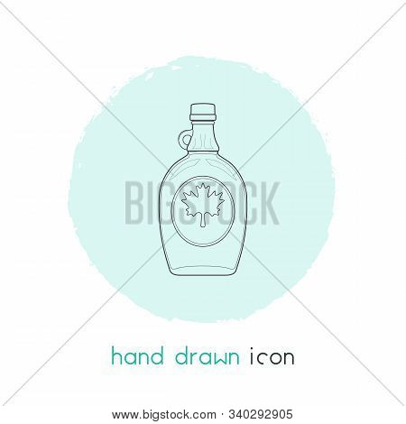 Canadian Maple Syrup Icon Line Element. Vector Illustration Of Canadian Maple Syrup Icon Line Isolat