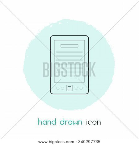 E-book Icon Line Element. Vector Illustration Of E-book Icon Line Isolated On Clean Background For Y