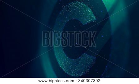 Copyright Symbol, Protection Of Intellectual Property, Future Technology Illustration, Monitor Scree