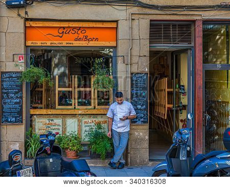 Barcelona, Spain - September 20, 2017: Barcelona Is The Capital And Largest City Of Catalonia, Spain