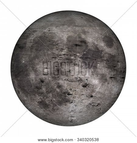 Hypertrophic Footprints On The Moon Isolated On White Background. Concept Of Evidence Of Human Prese