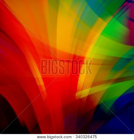 Abstract Technology Background Vector Wallpaper. Stock Vectors Illustration. Red, Yellow, Green Colo