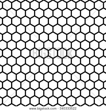 A Simple Abstract Geometric Honeycomb Background Pattern.