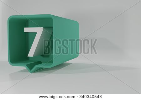 7 Number Balloon Icon. Speech Balloon 3d. Number Seven. 3d Illustration. 3d Buttons With Numbers. Th