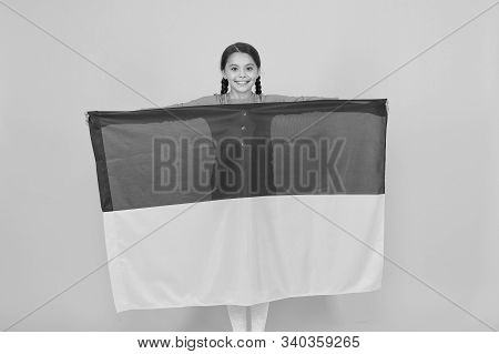 I Am Ukrainian And Proud Of It. Patriotism Love Ukraine Motherland. National Identity. Girl With Blu