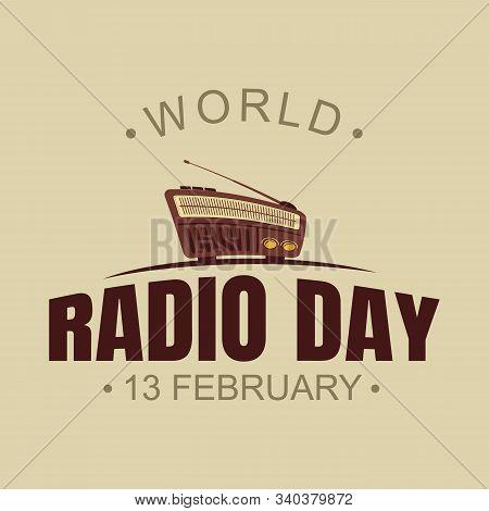 World Radio Day Vector Background With Radio Vector. World Radio Day Vector Element Design. Vector I