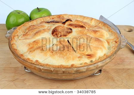 Apple Pie On Cooling Rack