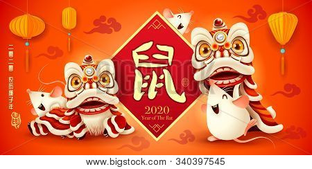 Happy Chinese New Year 2020. Year Of The Rat. Translation - (title) 2020 Lunar Calendar Year Of The