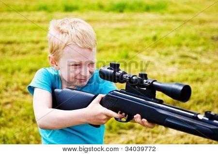 Young Boy Shooting