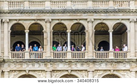 Newport, Usa - Sep 23, 2017: The Breakers Is An Old Newport Vanderbilt Mansion  Located On Ochre Poi