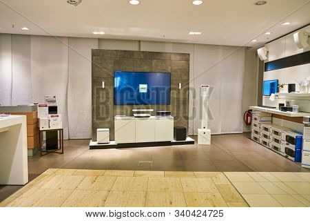 BERLIN, GERMANY - CIRCA SEPTEMBER, 2019: Bose equipment on display at the Kaufhaus des Westens (KaDeWe) department store in Berlin.