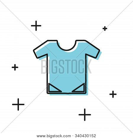 Black Baby Onesie Icon Isolated On White Background. Baby Clothes Symbol. Kid Wear Sign. Vector Illu