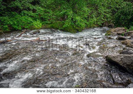 A Late Spring Look At Mchugh Creek In Turnagain Arm Near Anchorage Alaska.