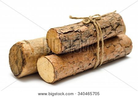 Bunch Of Firewood Isolated On A White Background