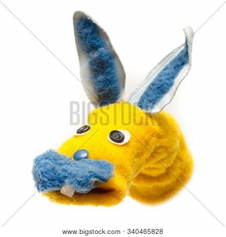 Handmade Puppet Toy Isolated On A White Background