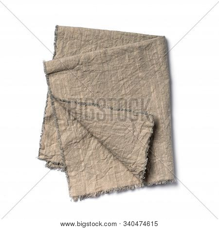 Single Folded Rustic Linen Napkin
