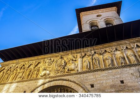 Church Of Santiago In Carrion De Los Condes, Province Of Palencia, Castile And Leon, Spain On The Wa