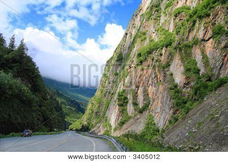Scenic Highway In Alaska