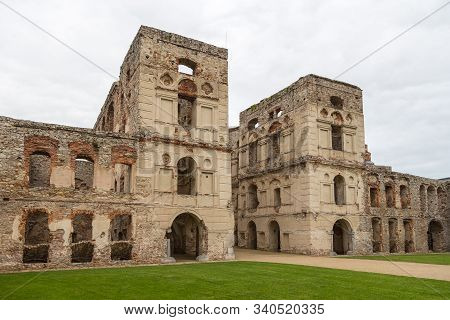 Ujazd, Poland- 23 May 2015: The Inner Courtyard Of The Krzyztopor Castle, Poland. Destroyed During T