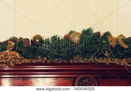 Christmas Decorations Taken Closeup. New Year. Christmas.