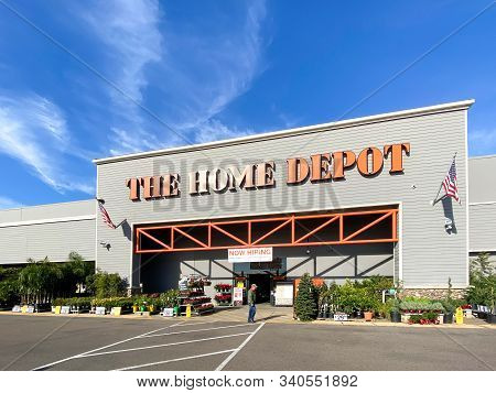 The Home Depot Store In San Diego, California, Usa. Home Depot Is The Largest Home Improvement Retai