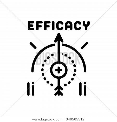 Black Line Icon For Efficacy Impact Influence Impression Compass Management