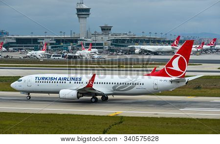 Passenger Airplane At Istanbul Airport