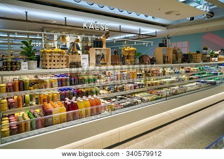 BERLIN, GERMANY - CIRCA SEPTEMBER, 2019: a food hall at the Kaufhaus des Westens (KaDeWe) department store in Berlin.