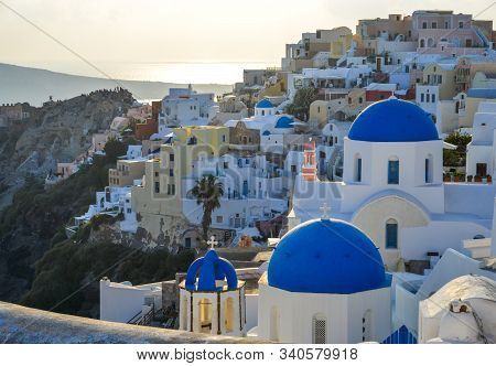 Landscape Of Santorini Island, Greece