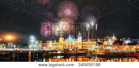 Colourful  Bright New Year Celebrations In Amsterdam,netherlands